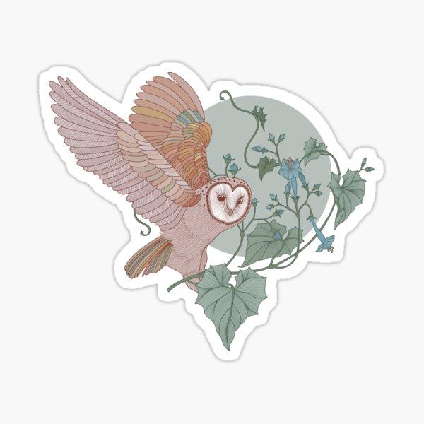 Moon Barn Owl  Sticker
