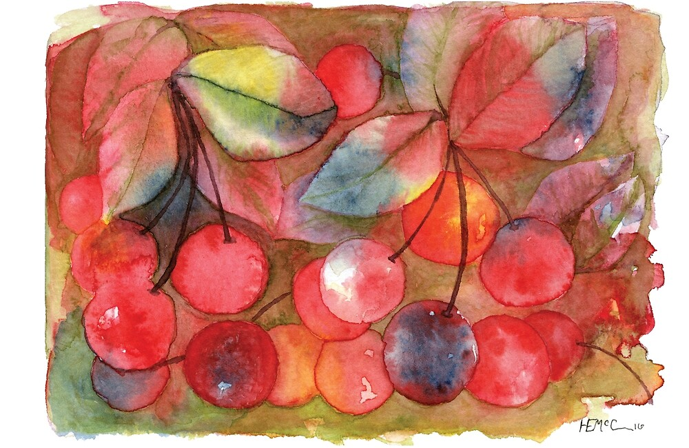 Cherries, Be Happy by Hanna McCown