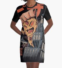 Pizza Kong Graphic T-Shirt Dress