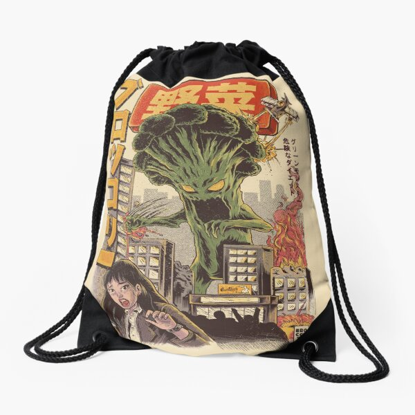 THE BROCCOZILLA Drawstring Bag