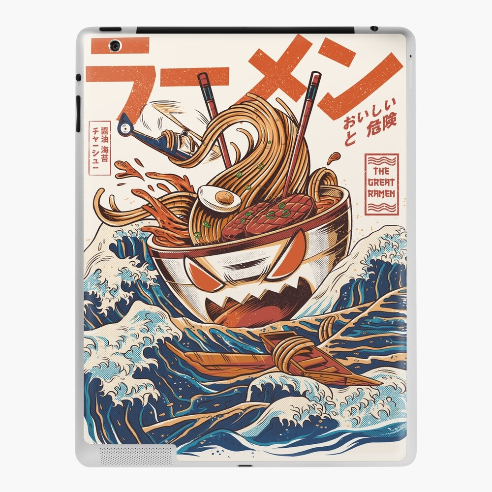 The Great Ramen off Kanagawa iPad Case & Skin
