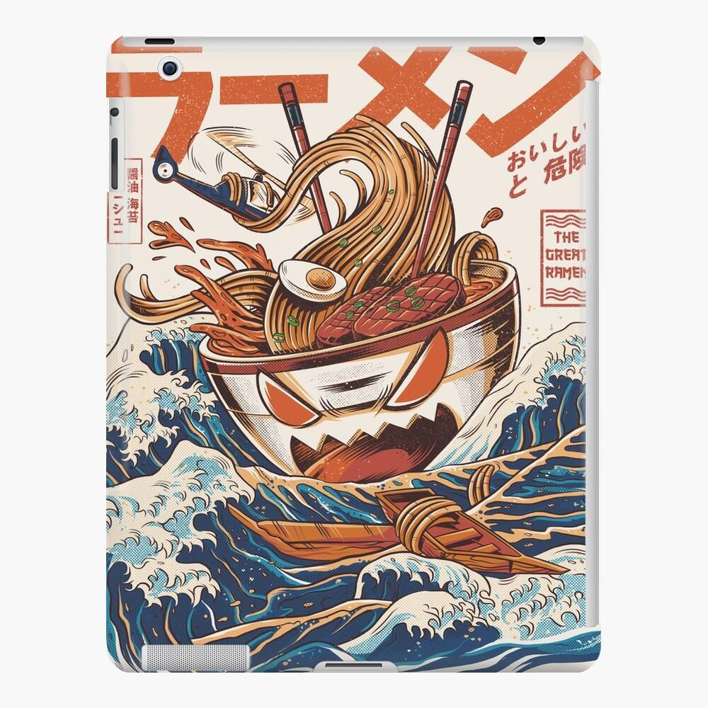 El Gran Ramen frente a Kanagawa Funda y vinilo para iPad