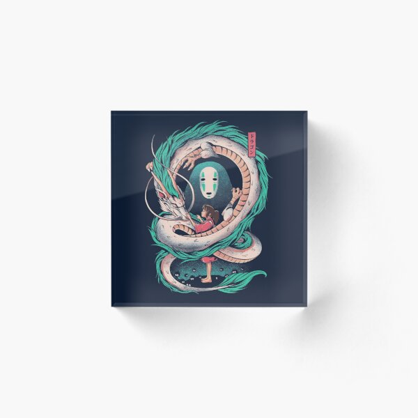 The girl and the dragon Acrylic Block