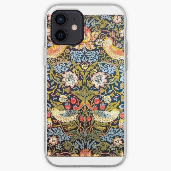 William Morris Strawberry Thief Design 1883 iPhone Soft Case