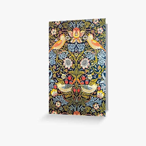 William Morris Strawberry Thief Design 1883 Greeting Card