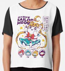 Sailor Meow Chiffon Top