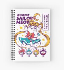 Sailor Meow Spiral Notebook