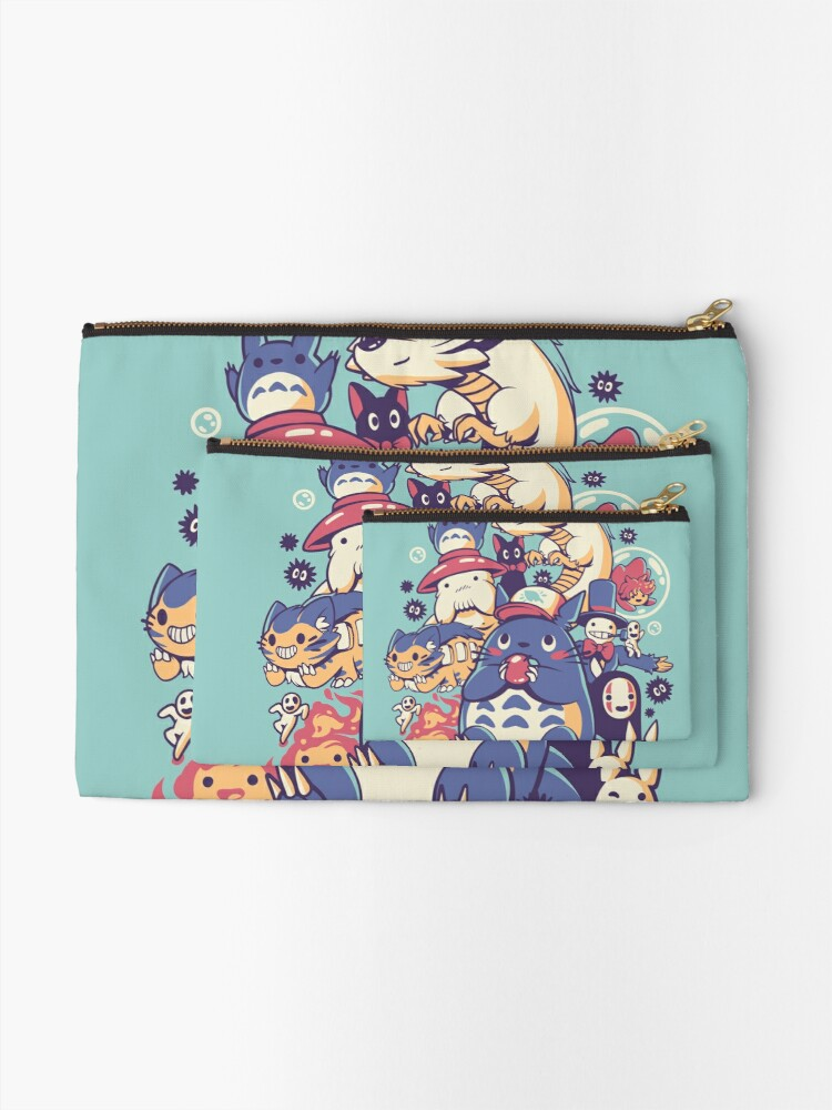 Alternate view of Creatures Spirits and friends Zipper Pouch