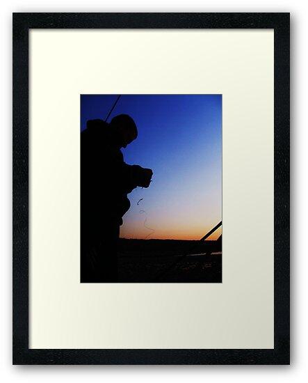 Fisherman Silhouette by Donna Chapman