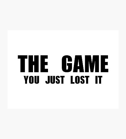 The Game Photographic Print