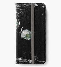 Blumen-Träne iPhone Flip-Case/Hülle/Klebefolie
