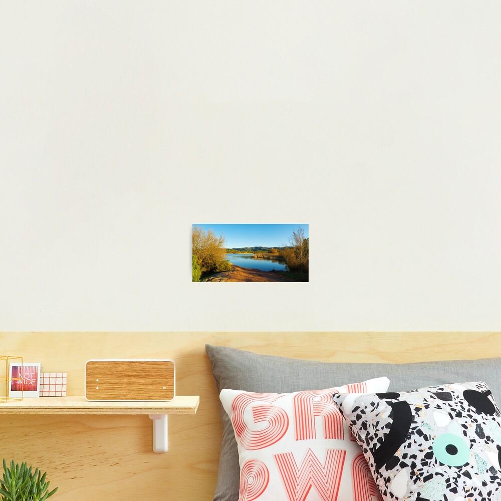 Winter panorama around the lake Photographic Print