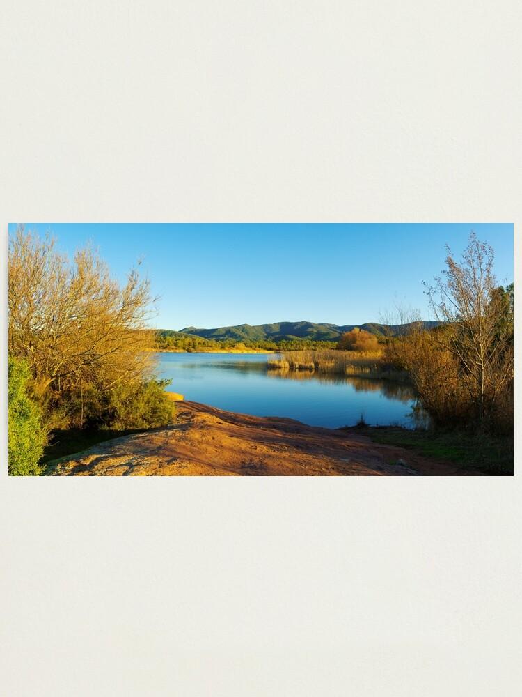 Alternate view of Winter panorama around the lake Photographic Print