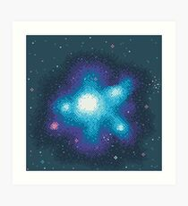 8Bit Galaxies:  Cornflower Nebula Art Print