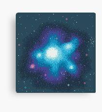 8Bit Galaxies:  Cornflower Nebula Canvas Print