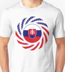 Slovakian American Multinational Patriot Flag Series Unisex T-Shirt