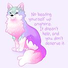 """""""No Beating Yourself Up Anymore"""" Pastel Rainbow Doggo by thelatestkate"""