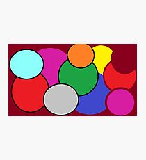 Circles and Colors are Fun! Photographic Print