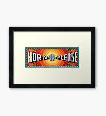 Horn OK Please  Framed Print