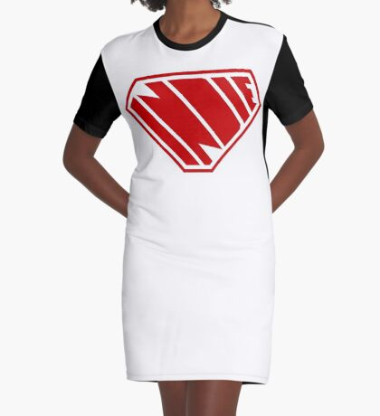 Indie SuperEmpowered (Red) Graphic T-Shirt Dress