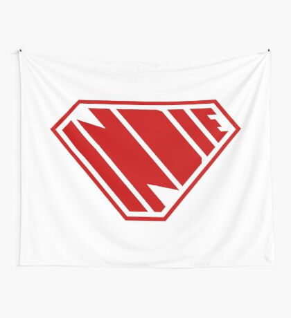 Indie SuperEmpowered (Red) Wall Tapestry