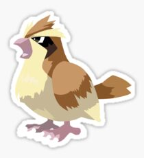 Pidgey Pokemon Simple No Borders Sticker