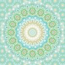 Earth and Sky Mandala in Pastel Blue and Green by Kelly Dietrich