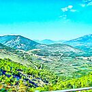 Abruzzo landscape from train window by Giuseppe Cocco
