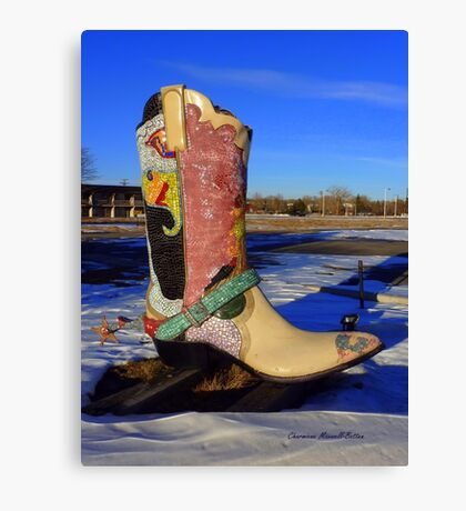 Those Boots are Made for Walking Canvas Print