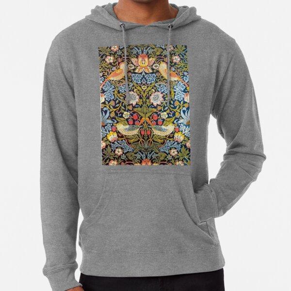 William Morris Strawberry Thief Design 1883 Lightweight Hoodie