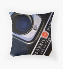 Kodak Brownie Detail Throw Pillow