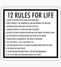 12 rules for life jordan peterson (version 1) Sticker