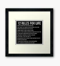 12 règles pour la vie jordan peterson (version sombre) Impression encadrée