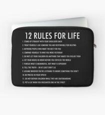 12 Regeln für das Leben jordan peterson (dunkle Version) Laptoptasche