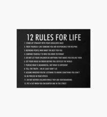 12 Regeln für das Leben jordan peterson (dunkle Version) Galeriedruck