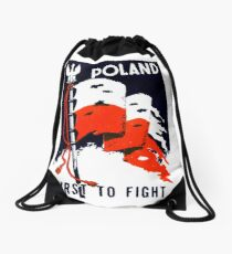 WWII Poland, First to Fight Drawstring Bag