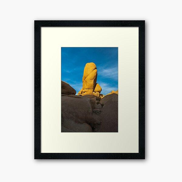 Joshua Tree Monolith Framed Art Print