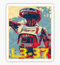 L3-37 HOPE Poster  Sticker