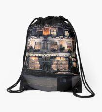 Sherlock Holmes pub Drawstring Bag
