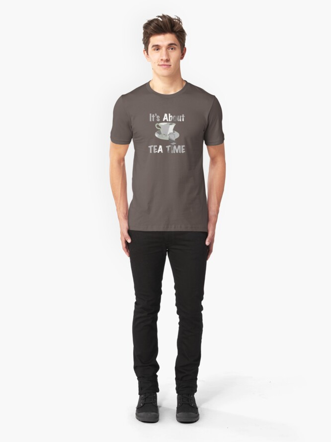Alternate view of It's About Tea Time  Slim Fit T-Shirt