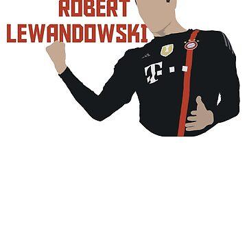 Robert Lewandowski - Minimalistic Print by CongressTart