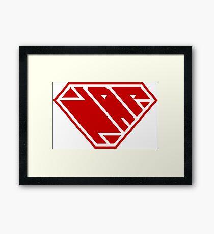 Power Nap (Red) Framed Art Print