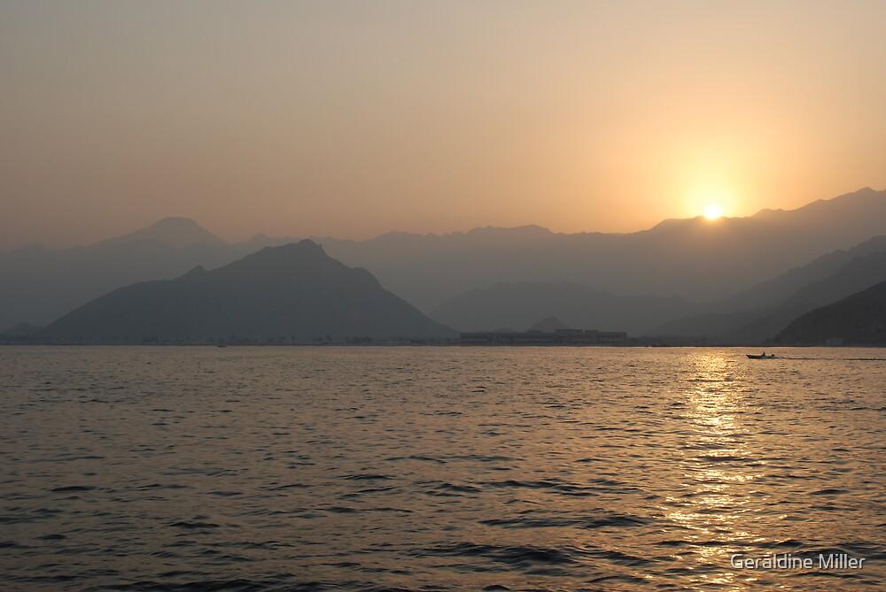 Oman Sunset by Geraldine Miller