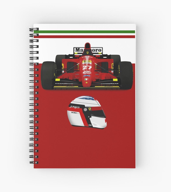 Jean Alesi - Ferrari 412T2 front with helmet by JageOwen