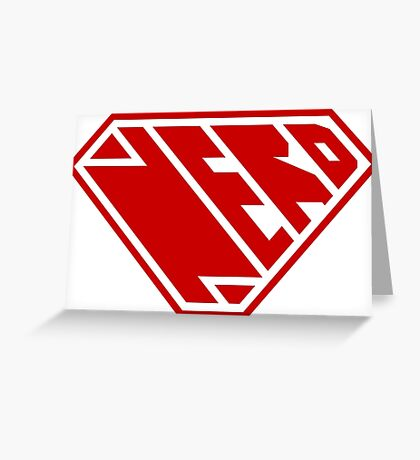 Nerd SuperEmpowered (Red) Greeting Card