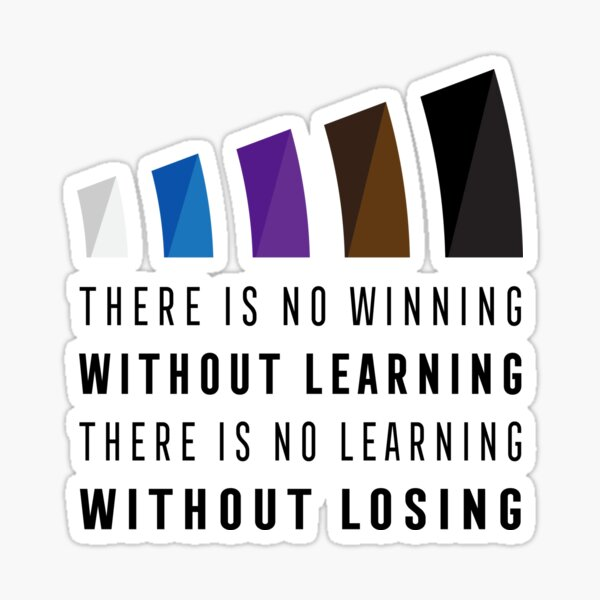 Jiu Jitsu There Is No Winning Without Learning Brazilian BJJ Dark Sticker