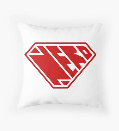 Nerd SuperEmpowered (Red) Throw Pillow