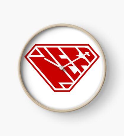 Nerd SuperEmpowered (Red) Clock
