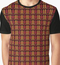 Red and Gold Plaid Graphic T-Shirt