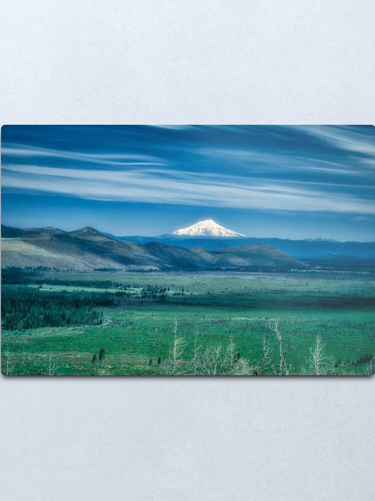 Alternate view of Hat Creek Rim - PCT view of Mt. Shasta Metal Print